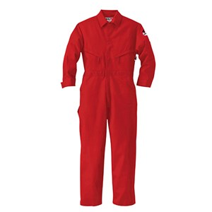 Industrial Coverall in 7.0 oz Banwear by Walls FR in Safety Red