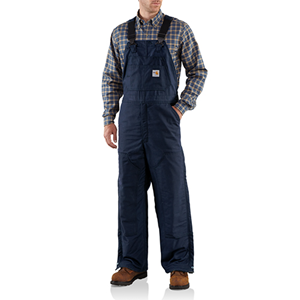 Carhartt FR Midweight Lined Bib Overall in Navy