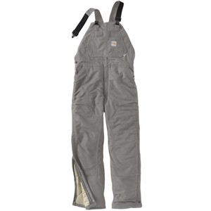 FR Duck Bib Overall with Quilted Lining-Steel