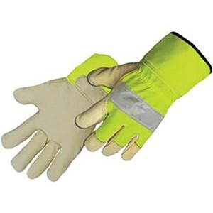 Premium Pigskin Hi-Vis Leather Gloves