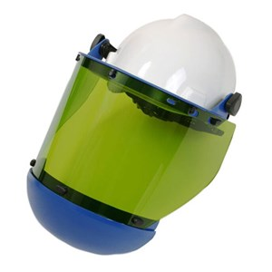 10 cal/cm² Faceshield with Slotted Hard Hat & Chin Guard