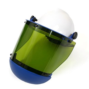 12 cal/cm² Faceshield with Slotted Hard Hat & Chin Guard