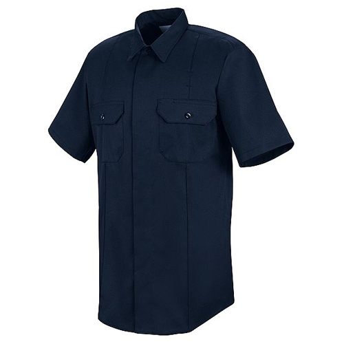 Unisex First Call Concealed Button-Front Short Sleeve Shirt