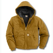 Duck Quilted, Flannel-Lined Active Jacket