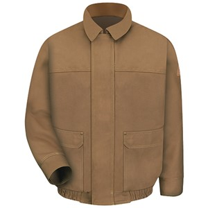 Lined FR Bomber Jacket in Brown Duck