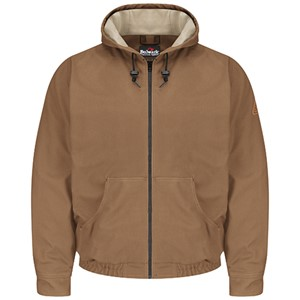 FR Hooded Jacket in Brown Duck