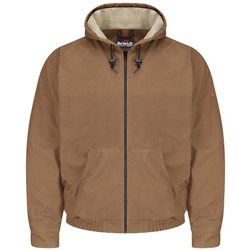 FR Hooded Jacket in Brown Duck