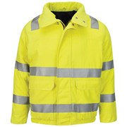 Bulwark Hi Vis Lined Bomber Jacket with Reflective Trim