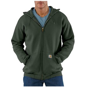 K122 Midweight Hooded Zip-Front Sweatshirt by Carhartt