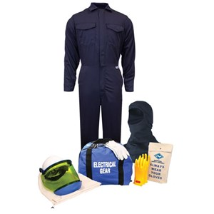 12 cal/cm² Arc Flash Kit with FR Coverall WITH KNIT HOOD