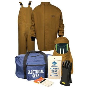 100 cal/cm² Level 4 Arc Flash Kit with Short Coat and Bib Overall in NOMEX/KEVLAR