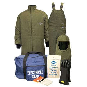 CAT4 ArcGuard® RevoLite™ Arc Flash Kit with Short Coat & Bib Overall