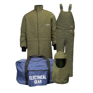 CAT4 ArcGuard® RevoLite™ Arc Flash Kit with Short Coat & Bib Overall, NO GLOVES
