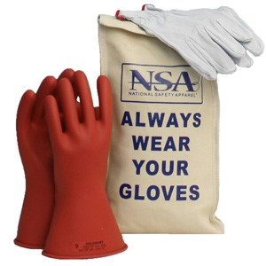 Glove Kit, 11-inch Class 00 Rubber Voltage Gloves