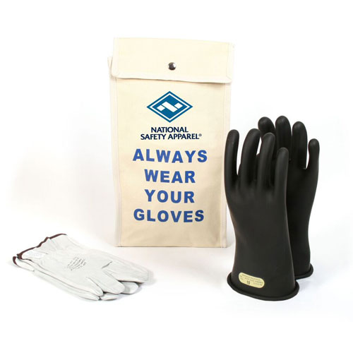 Voltage Rated Gloves : Glove kit inch class rubber voltage gloves
