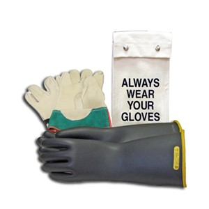 Glove Kit, 14-inch Class 2 Rubber Voltage Gloves