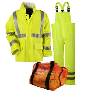"Arc H2O Rain Gear Kit - 30"" Coat & Bib Overall - ANSI Class 3"