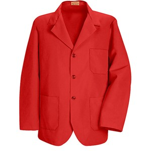 Men's Three-Button Lapel Counter Coat in Red