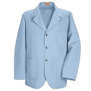 Men's Three-Button Lapel Counter Coat in Light Blue