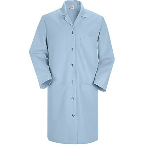 Women's Six-Button Closure Lab Coat in Light Blue