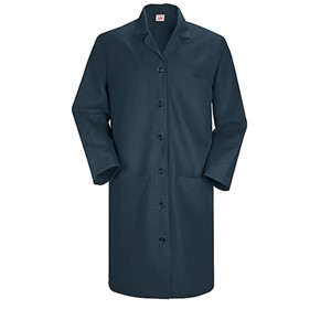 Women's Six-Button Closure Lab Coat in Navy