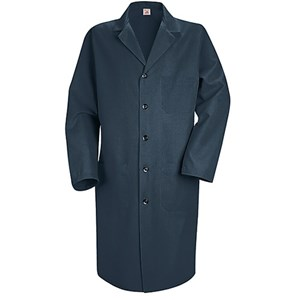 Men's Five-Button Closure Lab Coat in Navy