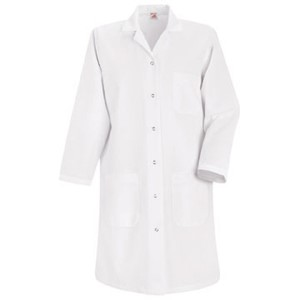 Women's Six-Gripper Closure Lab Coat