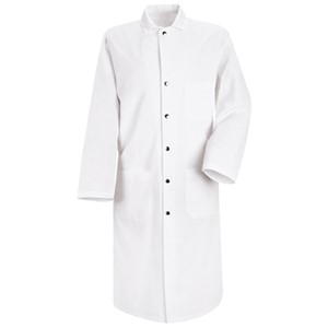 Snap-Front Butcher Coat