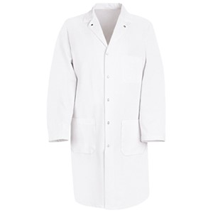 Gripper-Front Butcher Coat