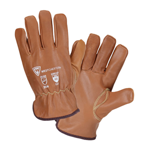 Oil Armor™ Finish Top Grain Goatskin Leather Glove with Para-Aramid and Fleece Lining