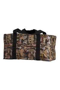 Large Weather Resistant Heavy-Duty Offshore Vinyl Bag in Oilfield Camo with dividers