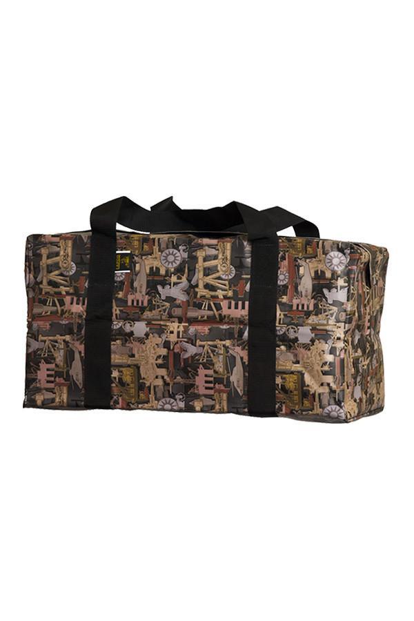 Medium Weather Resistant Heavy-Duty Offshore Vinyl Bag in Oilfield Camo with dividers