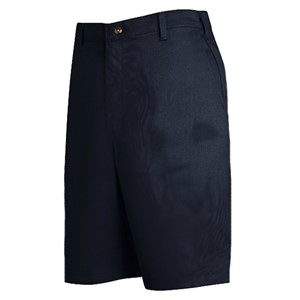 Plain Front Cotton Short in Navy