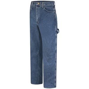 Bulwark Stonewashed FR Denim Dungaree