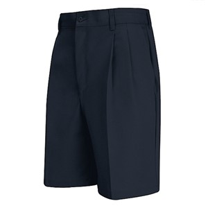 Pleated Front Short in Navy