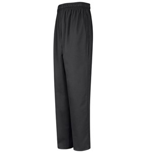 Baggy Chef Pant with Zipper Fly in Black