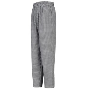Copy of Baggy Chef Pant with Zipper Fly in White/Black Check