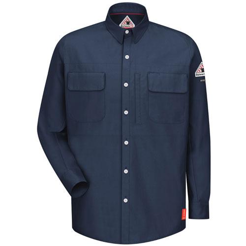 Bulwark iq series flame resistant work shirt qs30 for Flame resistant work shirts