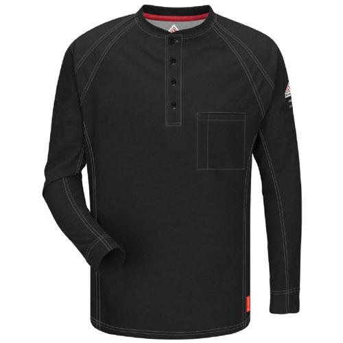 88f788b1349 iQ Flame Resistant Long Sleeve Henley Shirt - QT20