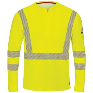 iQ Hi-Vis FR Long Sleeve Henley Shirt