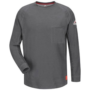 iQ FR Long Sleeve T-Shirt in Charcoal