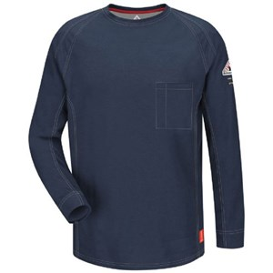 iQ FR Long Sleeve T-Shirt in Dark Blue