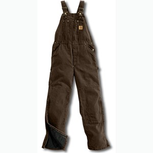 Sandstone Bib Overall /  Quilt Lined