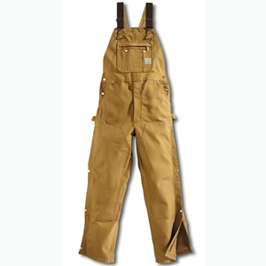 Duck Zip-To-Thigh Bib Overall / Unlined