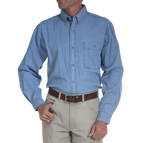 Denim Basic Work Shirt