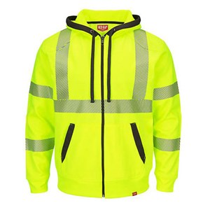 Red Kap Hi-Vis Zip-Up Sweatshirt