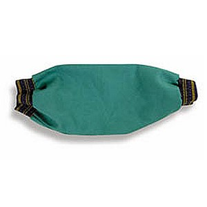 "18"" FR Green Sateen Welding Sleeve with Elastic Ends"
