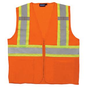 Hi-Vis Two-Tone Mesh Zipper Class 2 Vest
