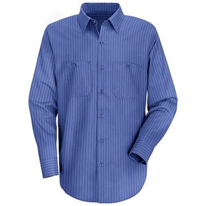 Long Sleeve Broadcloth Stripe Work Shirt