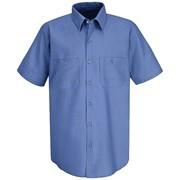 Short Sleeve Broadcloth Stripe Work Shirt